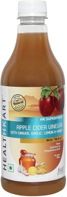 Healthkart Apple Cider Vinegar With Mother 0.5 L Ginger Garlic Lemon & Honey