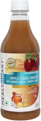Healthkart Apple Cider Vinegar With Mother 0.5 L Ginger Garlic Lemon & Honey