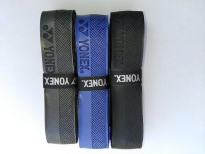Yonex AC 7400 Cl Cushtac  Grip(Black, Blue, Grey, Pack of 3)