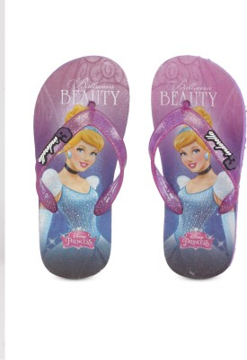 Disney Girls Slip On Slipper Flip Flop(Purple)