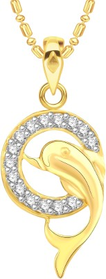 VK Jewels Dolphin Gold-plated Cubic Zirconia Alloy Pendant