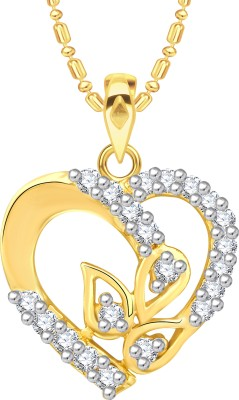 VK Jewels Well Crafted Heart Gold-plated Cubic Zirconia Alloy Pendant