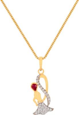 Payalwala 3cm Baby Doll 24K Yellow Gold Diamond Yellow Gold Pendant