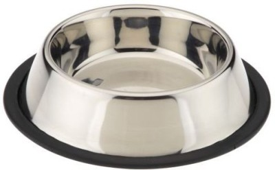 Pets Empire Round Steel Pet Bowl(1600 ml Silver)