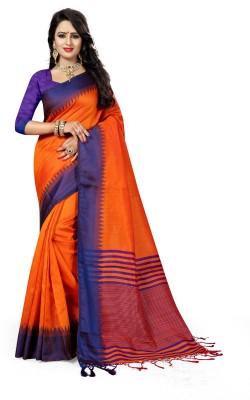 The Fashion Outlets Self Design, Plain Kanjivaram Cotton, Silk Saree(Pink)