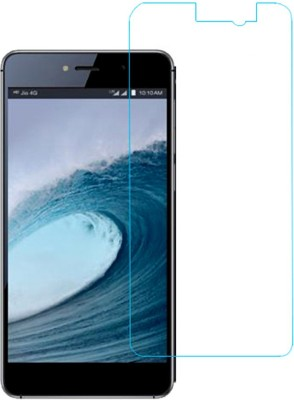 Bizone Tempered Glass Guard for Lyf Water 8 Pack of 1 Bizone Screen Guards