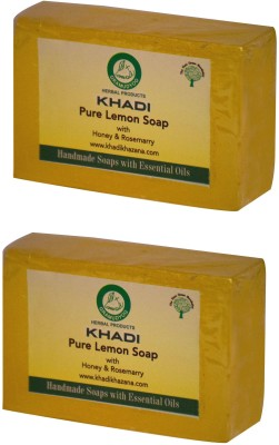 Khadi Herbal pure Lemon Soap Pack Of 2(250 g, Pack of 2)