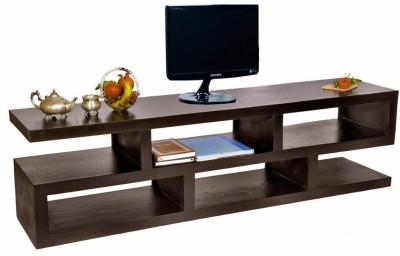 TimberTaste ERICA Corner Sheesham Solid Wood TV Entertainment Unit(Finish Color - Natural Teak)