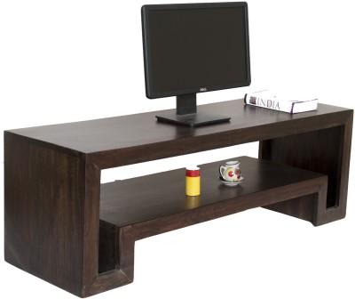 TimberTaste Hema Open Sheesham Solid Wood TV Entertainment Unit(Finish Color - Dark Walnut)