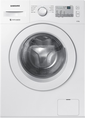 Samsung 6Kg Front Load Fully Automatic Washing Machine White (WW60M206LMA/TL, White)