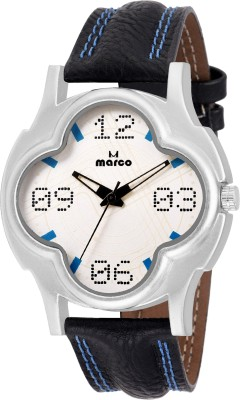 Marco MR-GR-4008-WHT-BLK  Analog Watch For Men