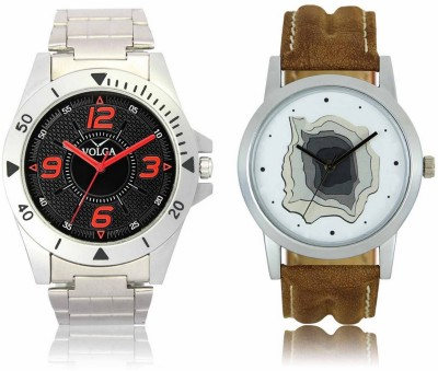 Shivam Retail VL02LR09 New Latest Collection Leather Strap Men Watch  - For Boys