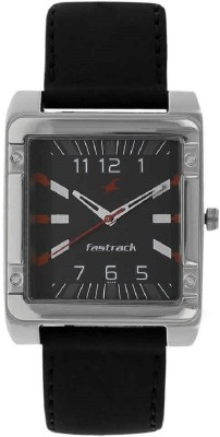Image of Fastrack Essentials Black Dial Watch - For Men