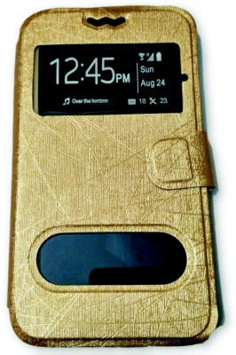 99Shoppy Flip Cover for Samsung Galaxy Trend II Duos S7572(Brown, Cases with Holder, Artificial Leather)