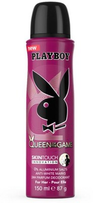 Playboy Queen of the Game Body Spray  -  For Women(150 ml)  available at flipkart for Rs.195