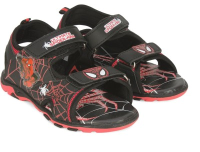 Spiderman Boys Velcro Sports Sandals(Black)