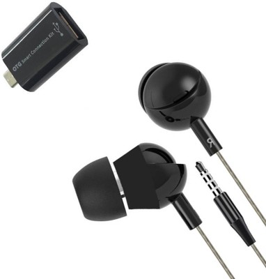 Mocell Headphone Accessory Combo for Mobiles Black