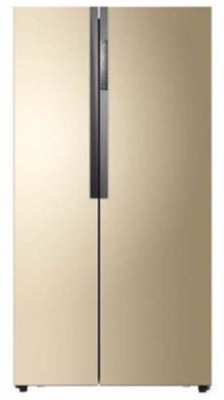 Haier 565 L Frost Free Side by Side Refrigerator(Gold, HRF-618GS)