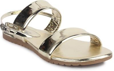 London Steps Women Gold Flats