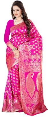 The Fashion Outlets Self Design, Plain Kanjivaram Cotton, Silk Saree(Orange)