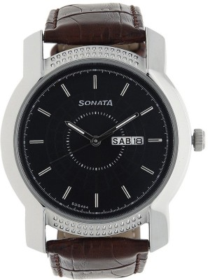 Sonata 7093SL05  Analog Watch For Unisex