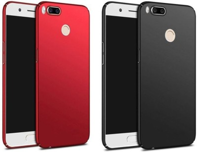 Foneys Back Cover for Mi A1(Black, Red, Plastic)