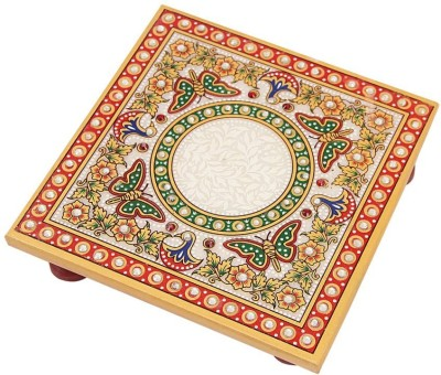 39 Off On Handicrafts Paradise Marble Chowki With Intricate