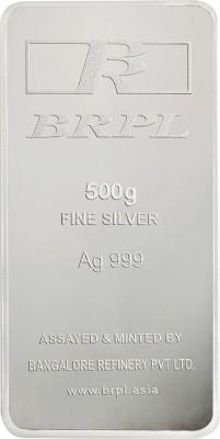 Bangalore Refinery Brpl 500 Gram Silver Bar S 999 500 g Silver Bar Bangalore Refinery Coins   Bars