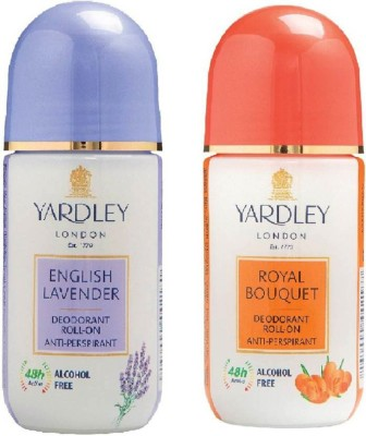 Yardley London Royal Bouquet and English Lavender (100 ml, Pack of 2) Deodorant Roll-on  -  For Men & Women(50 ml, Pack of 2)  available at flipkart for Rs.380