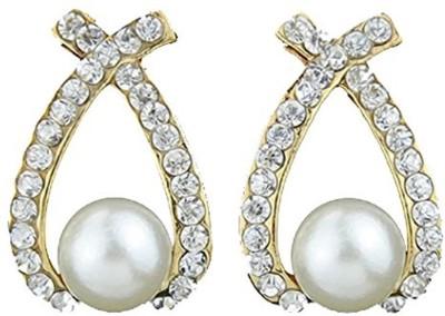 Peora Attractive Pearl Hanging Alloy Chandelier Earring