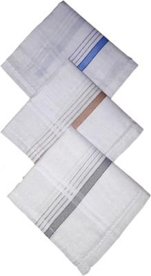 Modish vogue Set of 3 colored strips handkerchiefs Handkerchief(Pack of 3)