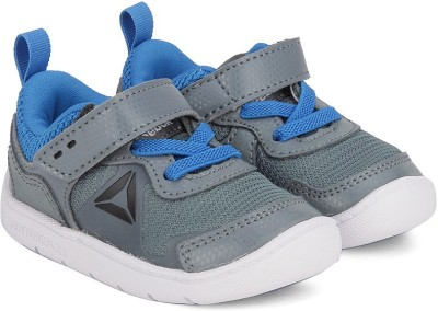 REEBOK Boys   Girls Lace Running Shoes Grey REEBOK Sports Shoes