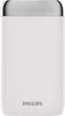 Philips DLP8006 Lithium Polymer Power Bank, 8000 mAh (White)