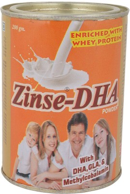 ZINSE-DHA POWDER Whey Protein(200 g, CHOCOLATE)  available at flipkart for Rs.199