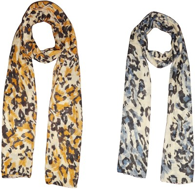 D Fashion Printed Poly Cotton Women's Scarf, Stole