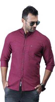 RODID Men Solid Casual Maroon Shirt RODID Casual Shirts