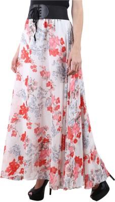 Raabta Fashion Floral Print Women Regular Multicolor Skirt