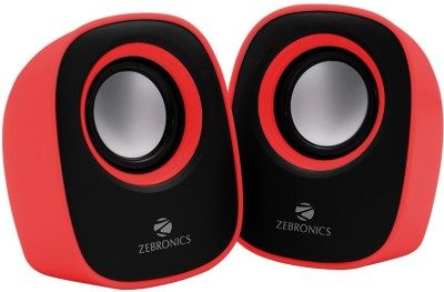 Zebronics ZEB-PEBBLENEW Laptop/Desktop Speaker(Red, 2.0 Channel)