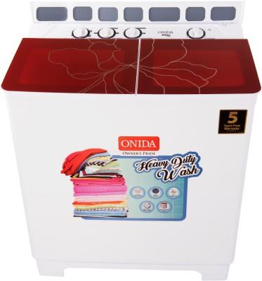 Onida 8.5 kg Semi Automatic Top Load Washing Machine Maroon, White(S85GC)