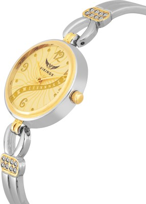 VIKINGS LADIES BEADS SMALL HEARTS VK-LR-021-WHT-CHN ANALOG WATCH DIAMOND Watch  - For Girls
