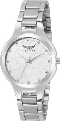 VIKINGS LADIES BEADS DIAMOND VK-LR-021-BLK-CHN DIAMOND Watch  - For Girls