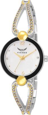 VIKINGS LADIES VK-LR-020-WHT-GLD-TWO TONE ANALOG WATCH TWO TONE WATCH Watch  - For Girls   Watches  (VIKINGS)
