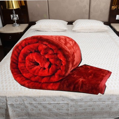 TrueValue Creations Floral Single Mink Blanket(Polyester, Red) at flipkart