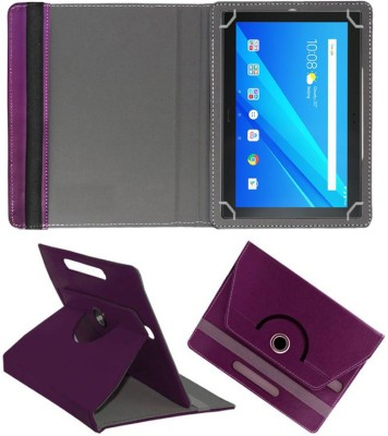 Fastway Book Cover for Lenovo Tab 4 10 Plus 16 GB 10.1 inch with Wi-Fi+4G(Purple, Cases with Holder, Artificial Leather)