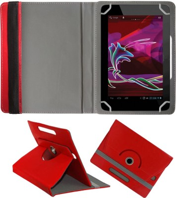 Fastway Book Cover for Penta Bsnl 83Aaq1 Dual Sim(8 Inch, 8Gb, )(Red, Cases with Holder)