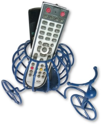 SAITECH1 1 Compartments IRON, METAL REMOTE STAND / REMOTE HOLDER / BICYCLE REMOTE STAND(Blue)  available at flipkart for Rs.299