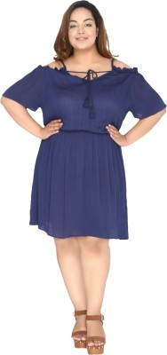 CALAE Women Bubble Dark Blue Dress