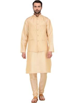 TAG-7 Men Kurta, Ethnic Jacket and Pyjama Set