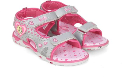 Barbie Girls Velcro Sports Sandals(Silver)