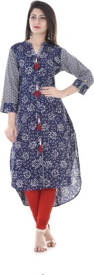 Stylum Casual Printed Women Kurti(Blue, White) Flipkart